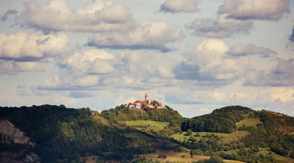 Blick auf die Leuchtenburg bei Kahla an der Saale