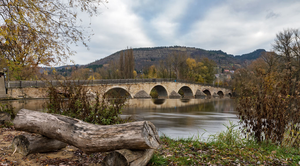 Die Saalebrücke bei Burgau, Jena