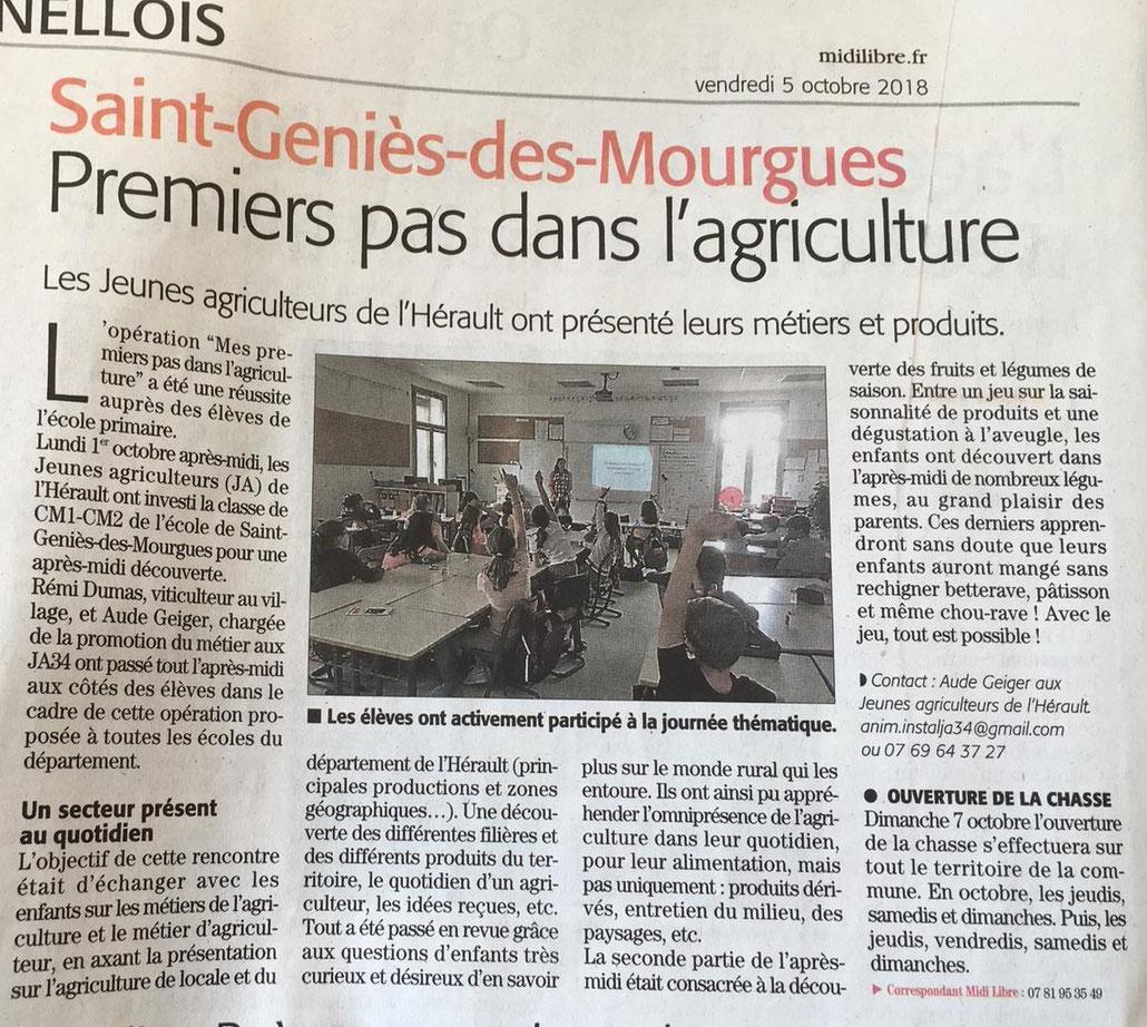 Midi Libre - 5 octobre 2018