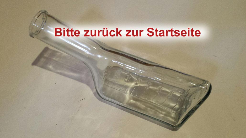 Glas Urinflasche