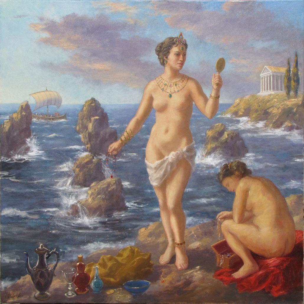 Tony Wahlander (Tony Wåhlander) artiste peintre en Provence, Calypso et Ulysse