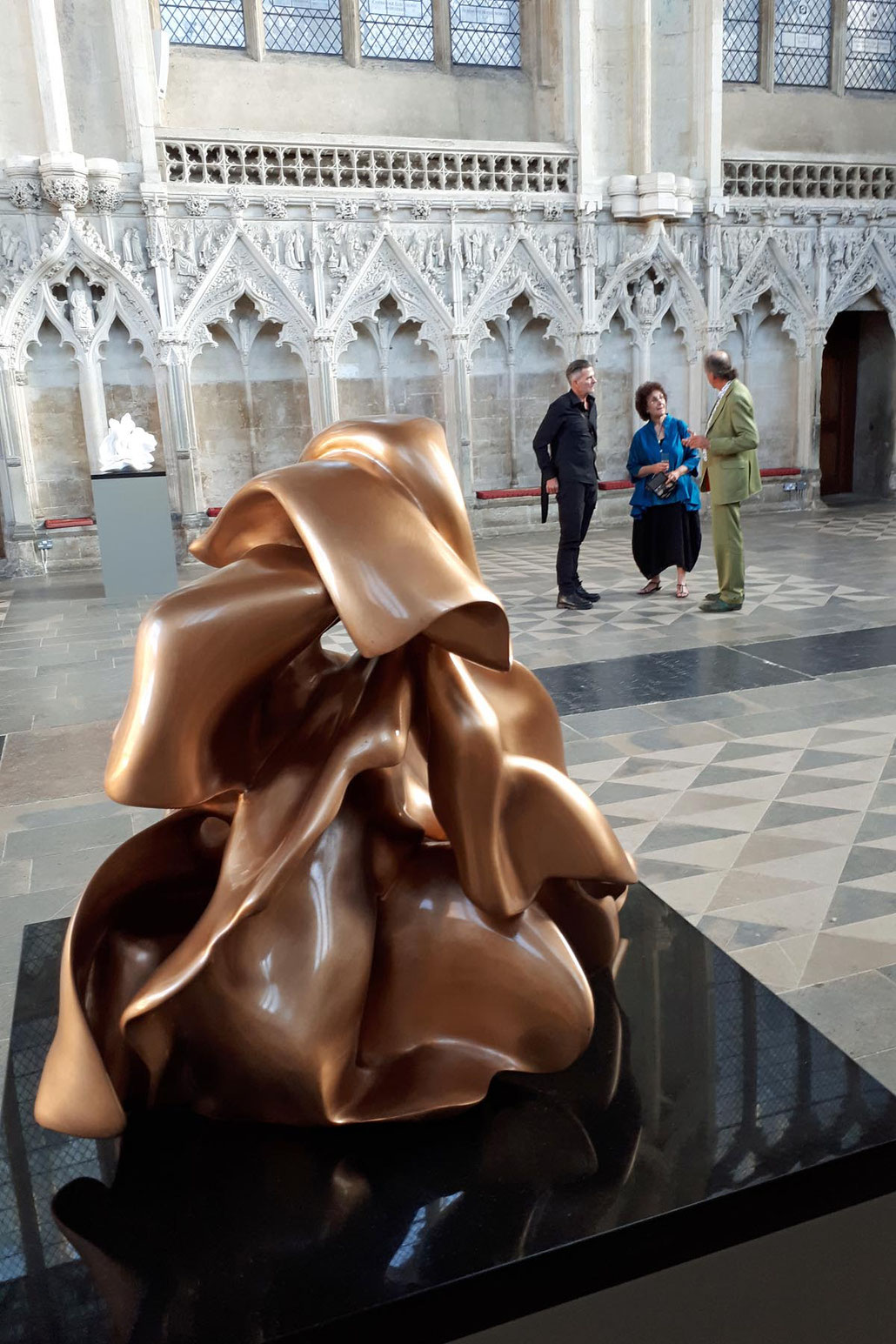 Bronze sculpture by famous sculptor Helaine Blumenfeld OBE. This MASTERPIECE is on show at Ely cathedral. HEX is a Fellow of the RSS in London