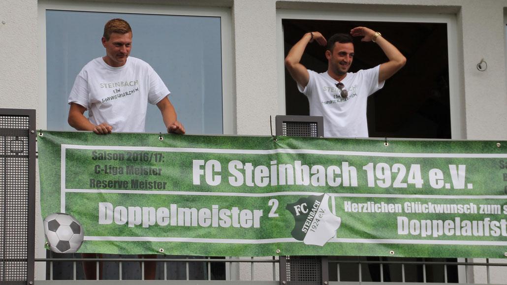Meistertrainer: Mit Philipps und Görgülü feierte der FC Steinbach zweimal die Doppelmeisterschaft