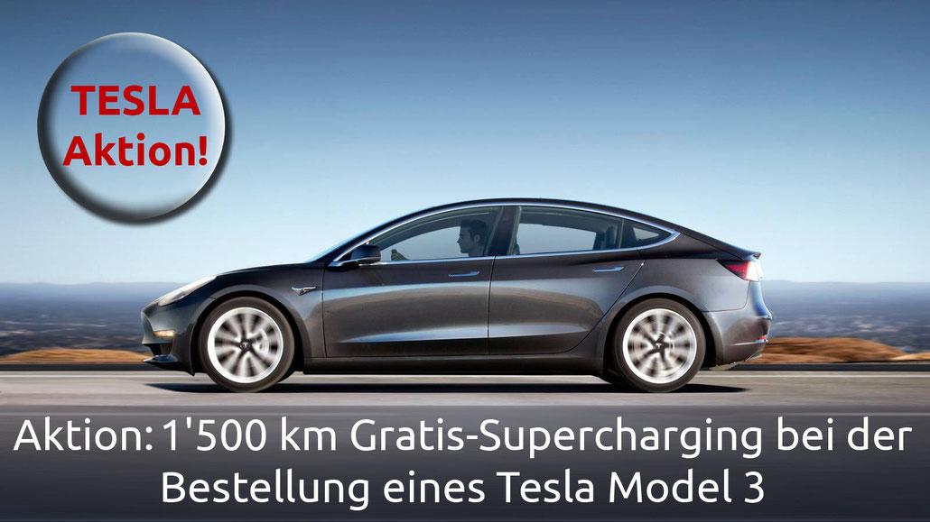 Tesla offeriert 1'500 km Gratis Supercharger Nutzung für Model 3