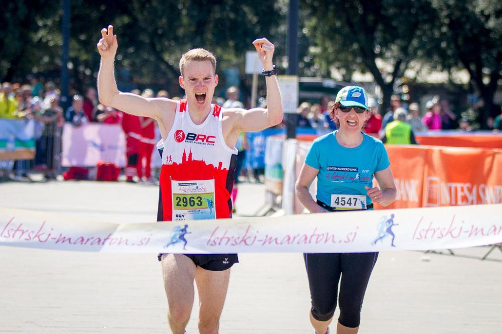 Emotionen frei beim Zieleinlauf. (Foto: siol.net)