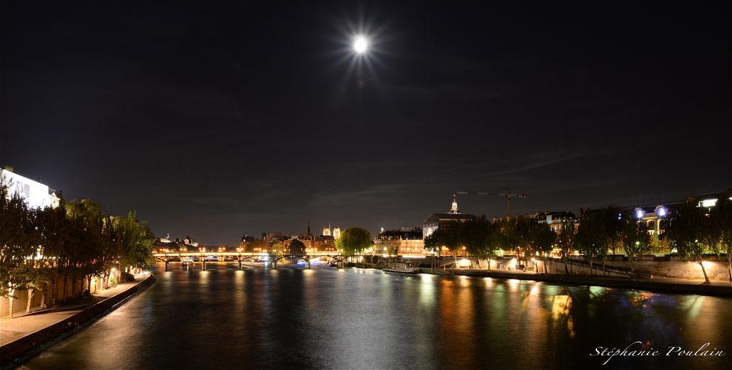 Le pont des arts entre jour et nuit...
