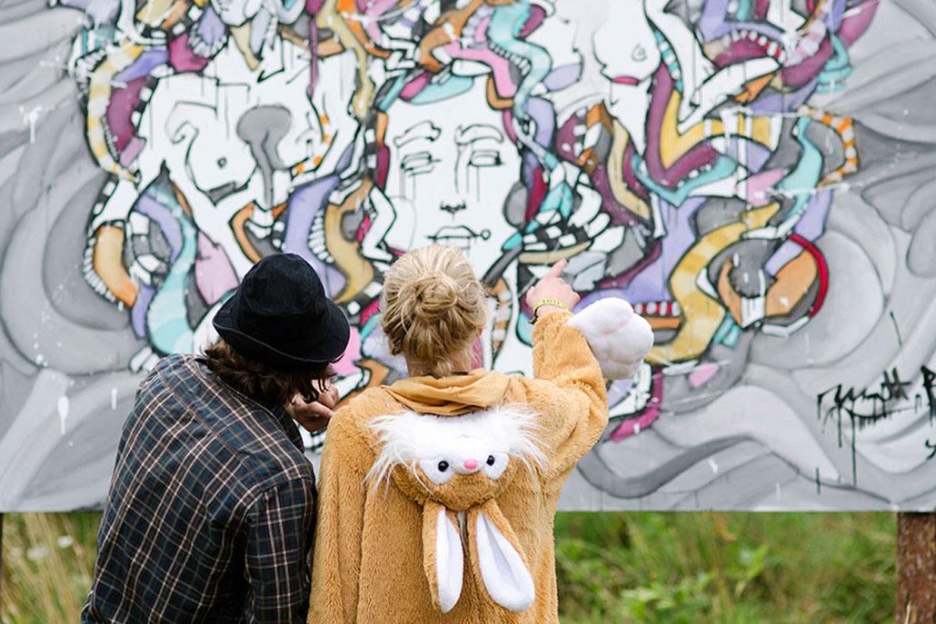 Matt.B @ Yaga Festival, Peintures, performance, paintings, artiste, mattb, matthieu belleville, live painting, live, art, artcontemporain, street art, urban art