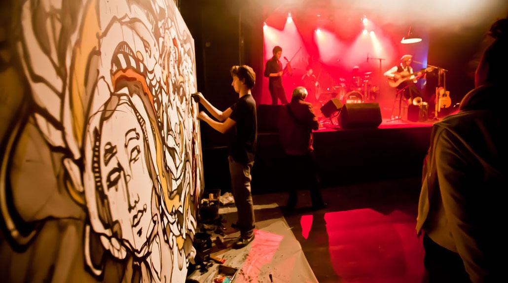 Matt.B, Peintures, performance, paintings, artiste, mattb, matthieu belleville, live painting, live, art, artcontemporain, street art, urban art, art'cade, photographie