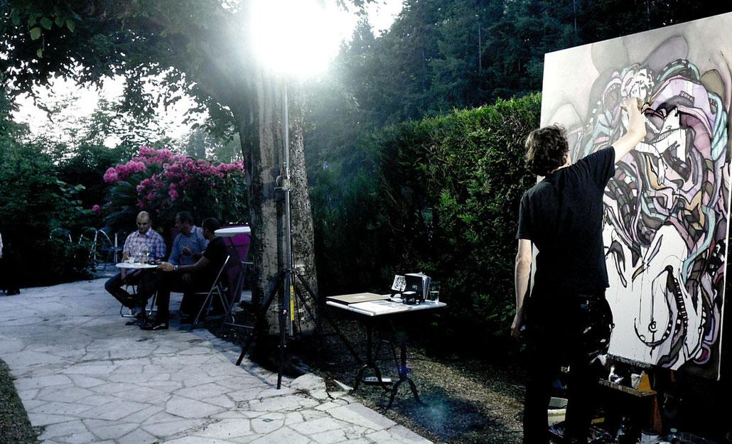 Matt.B, Peintures, performance, paintings, artiste, mattb, matthieu belleville, live painting, live, art, artcontemporain, street art, urban art, le grand veneur, barbizon