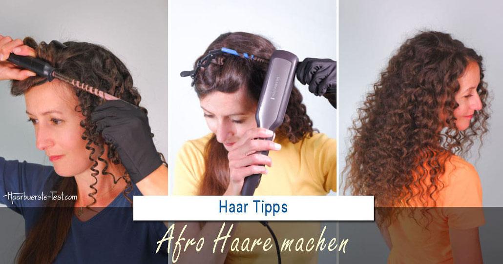 Afro Haare machen: 3 Wege zum Afro-Look!