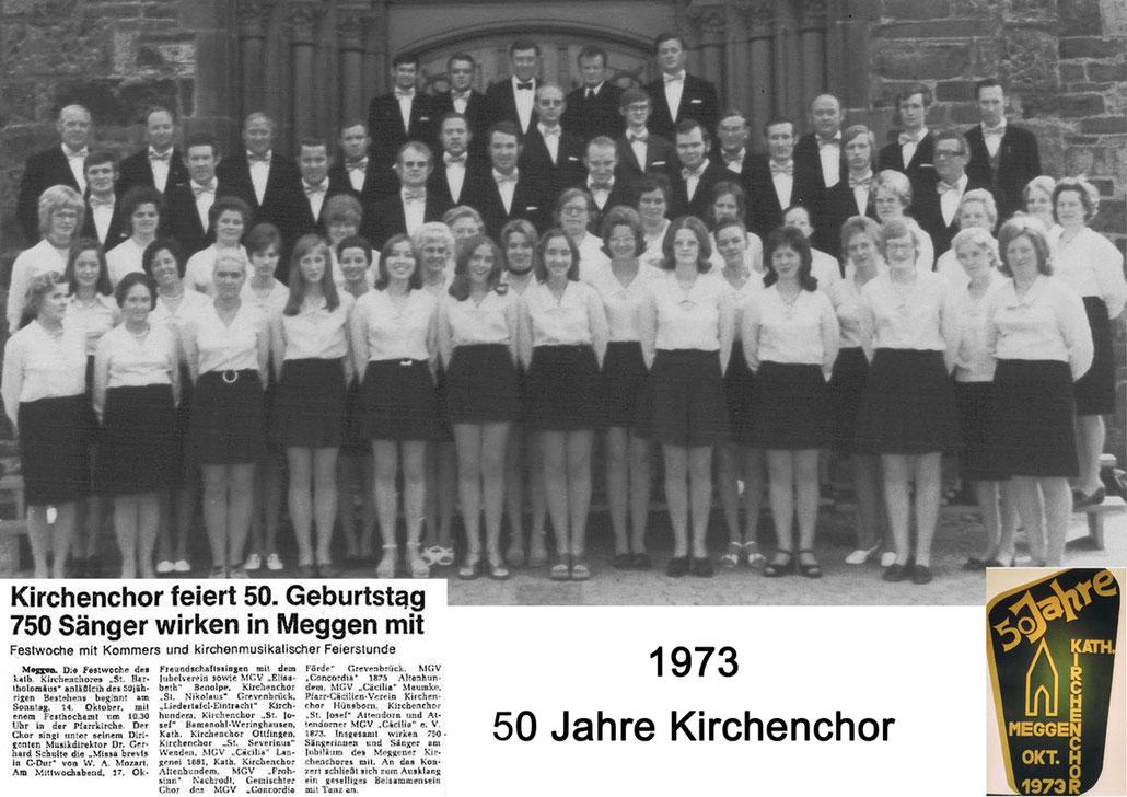 Der Kirchenchor Meggen im Jahr 1973