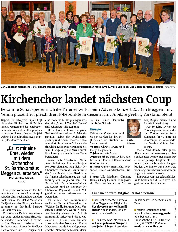 Westfalenpost, 24.01.2020