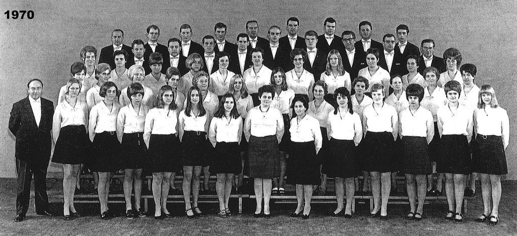 Der Kirchenchor Meggen im Jahr 1970