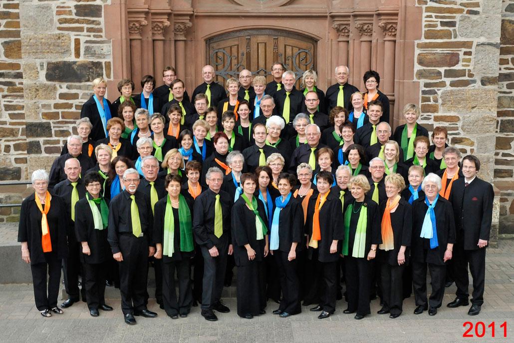 Der Kirchenchor Meggen im Jahr 2011