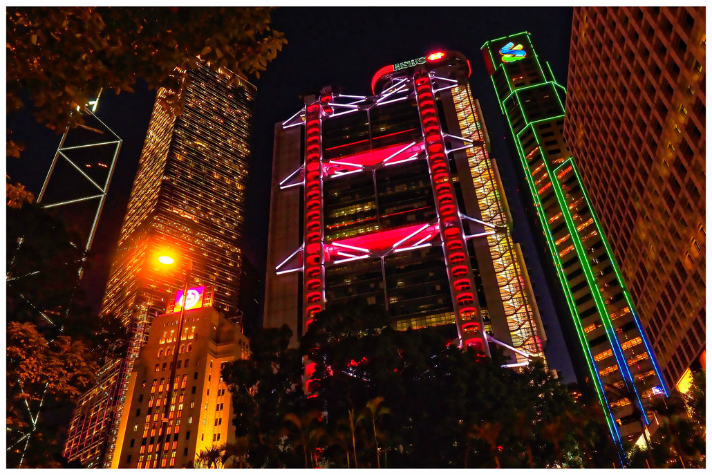 Hongkong - Bankentürme
