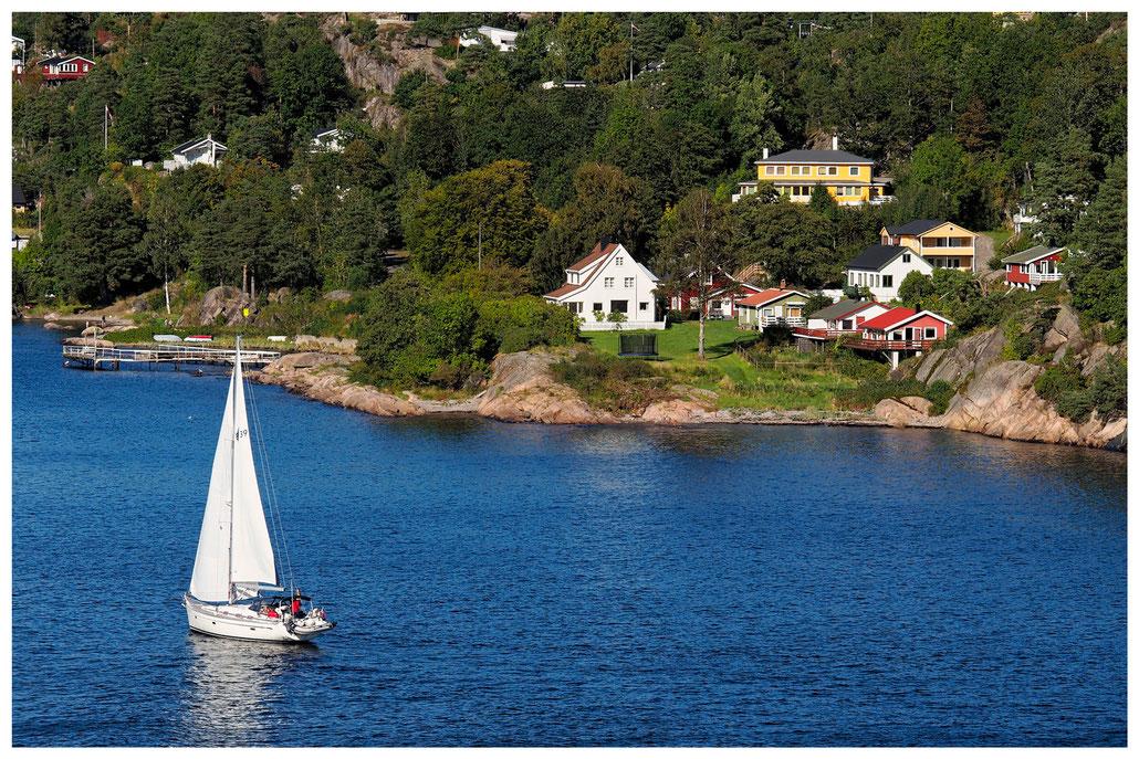 Segelboot im Oslofjord