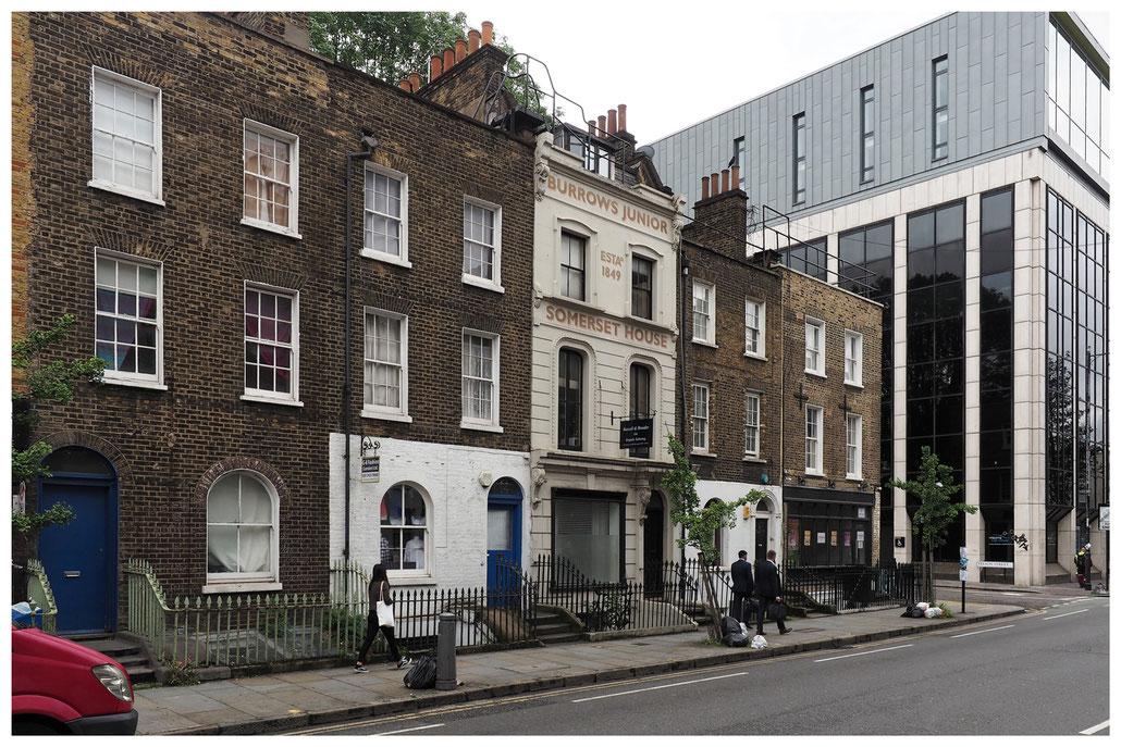 Häuserzeile im Londoner East End