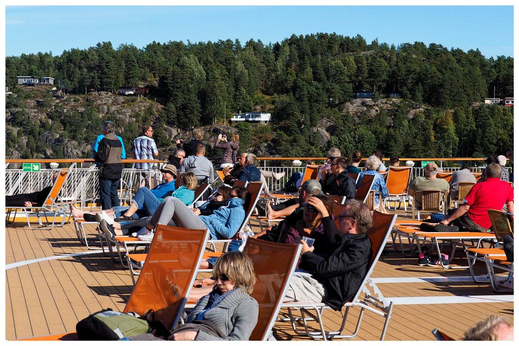 Im Oslofjord, an Bord der Color Line Fähre nach Kiel