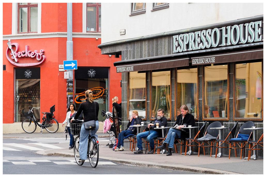 Straßenkreuzung im Osloer Stadtteil Grünerlokka