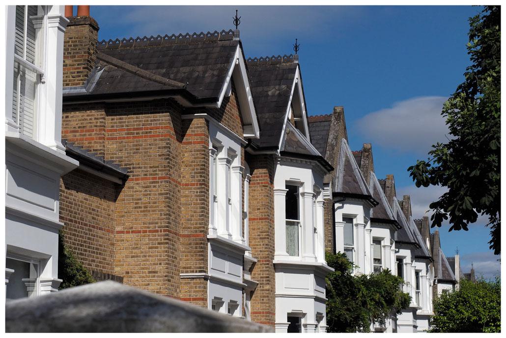 Reihenhäuser im Londoner Stadtteil Kew