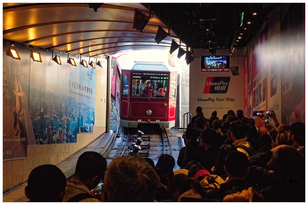 "Hongkong - Talstation zum ""The Peak"""