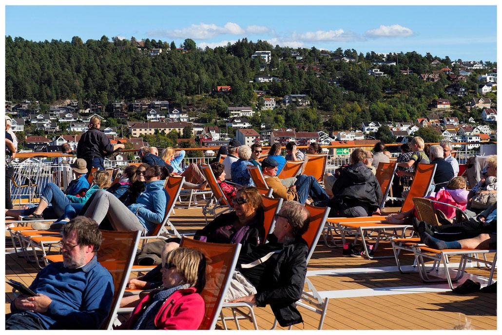 Im Oslofjord, an Bord der Color Line Fähre