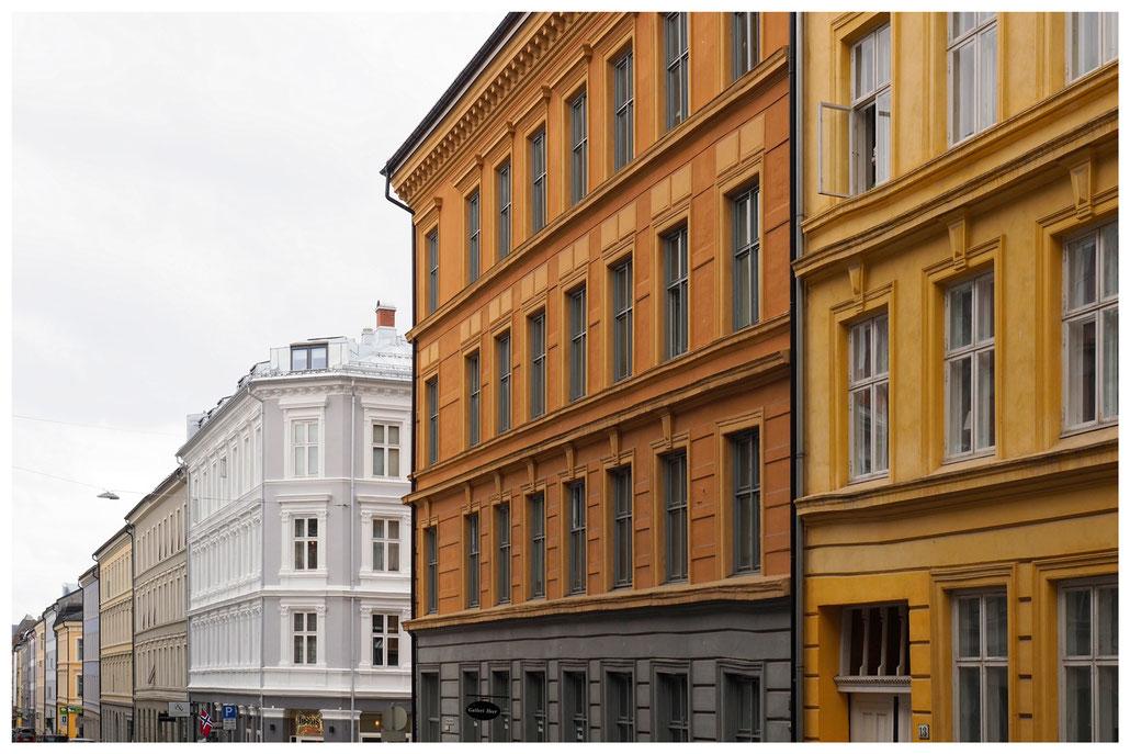 Oslo - Häuserzeile im Stadtteil Grünerlokka
