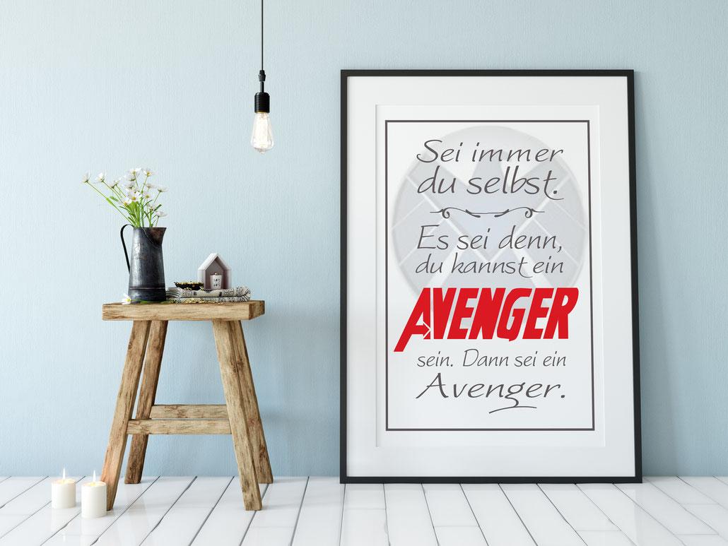 Druck Wanddeko Avenger