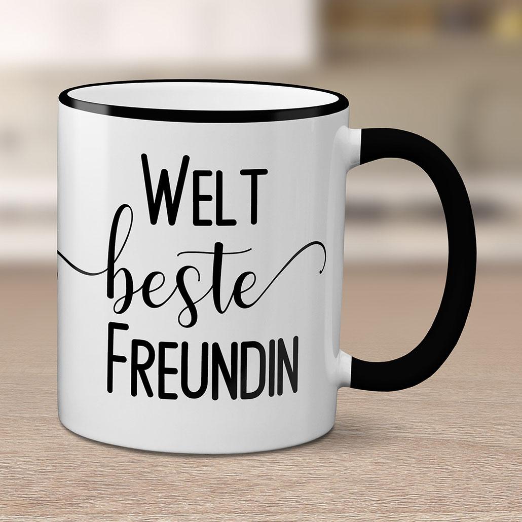 Bedruckte Tasse Beste Freundin Geschenkidee Geburtstag