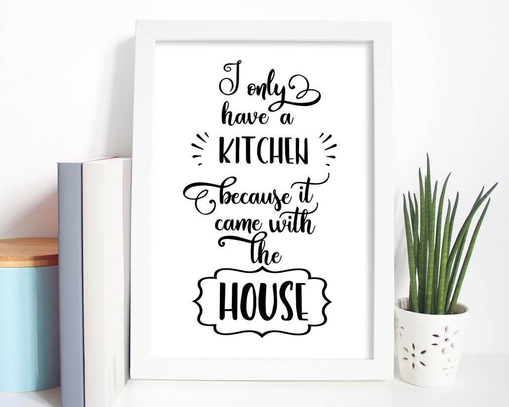 Kunstdruck Print kitchen Wohndeko