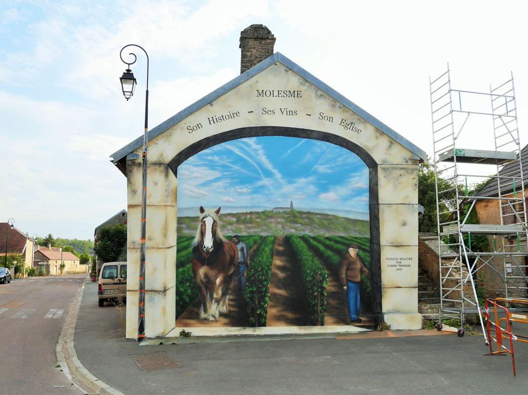 fresque-trompe-l'oeil-paysage-vigne-pierre-cheval-coron