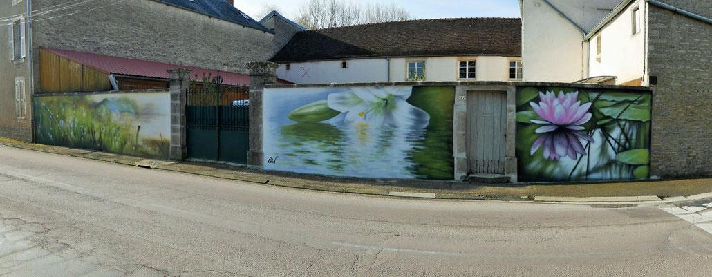 fresque-murale-paysage-fleur-nature-zen-coron-brion-sur-ource