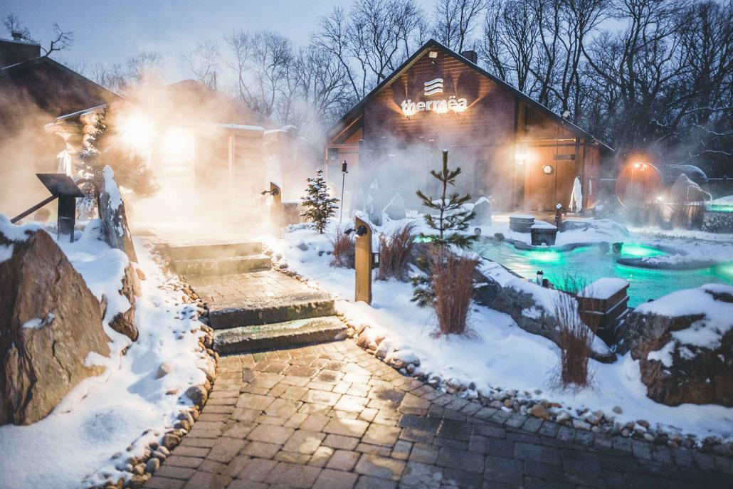 Thermea Spa Winnipeg winter
