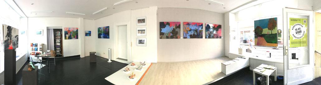 """Ausstellung """"Sichtweisen"""" Annette Wöhrl und Ruth Gross, Juni 2020"""