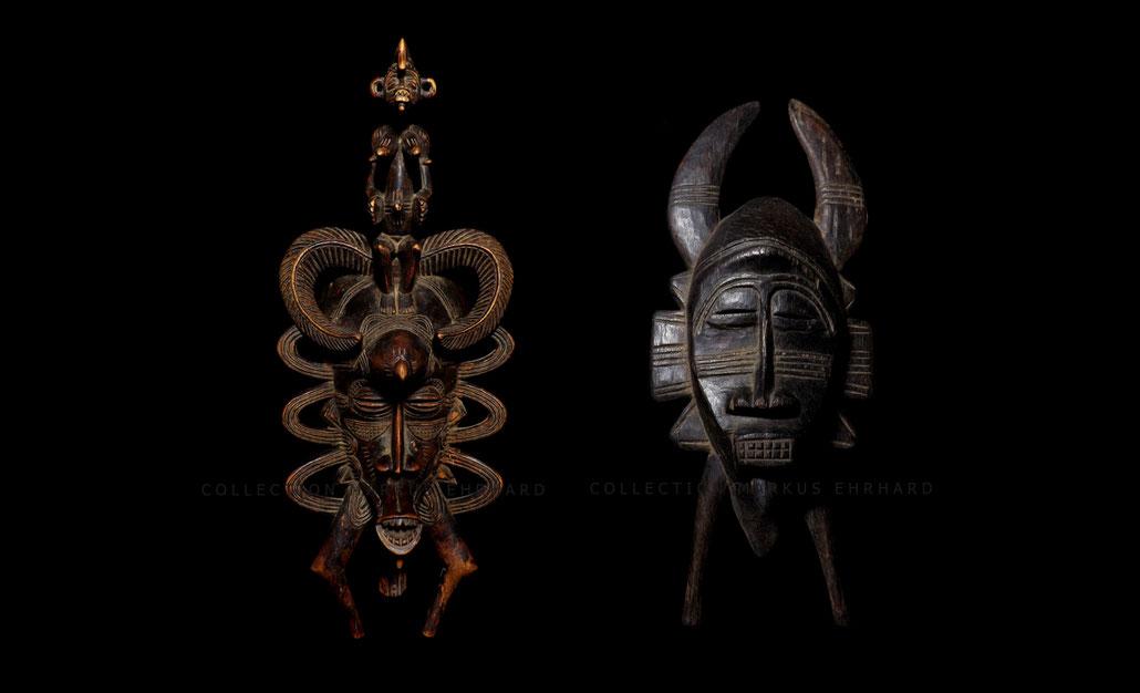 Masterpiece Senoufo Kpelié masque Senufo Kpelie mask Bakari Coulibaly