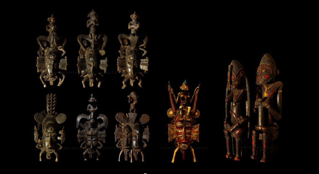 Coulibaly Senufo Senoufo overview Kpelie mask Tugubele statue