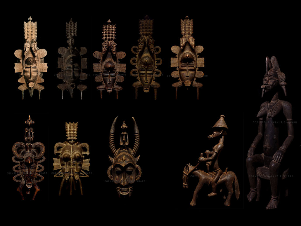 Senufo sculptures Senoufo Syonfolo Tugubele Kpelie Coulibaly