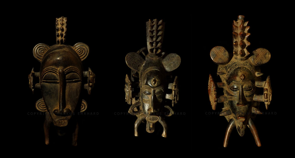 Kpelié masks for the Poro of the region of Korhogo, Senoufo art Senufo