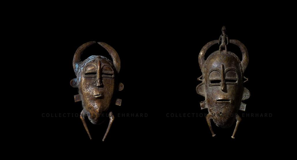 Senufo Kpelie mask Senoufo Kpelié masque Kone from Kolia Ivory Coast