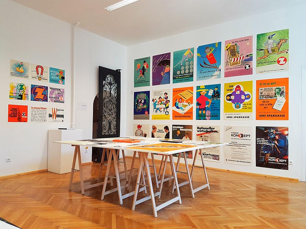 Heinz Traimer Poster Plakate - Ausstellung im ALSEUM - Bezirksmuseum Alsergrund 2017.
