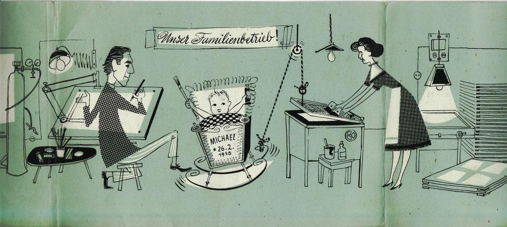 Silkscreen-Printers Studio in Vienna 1958.