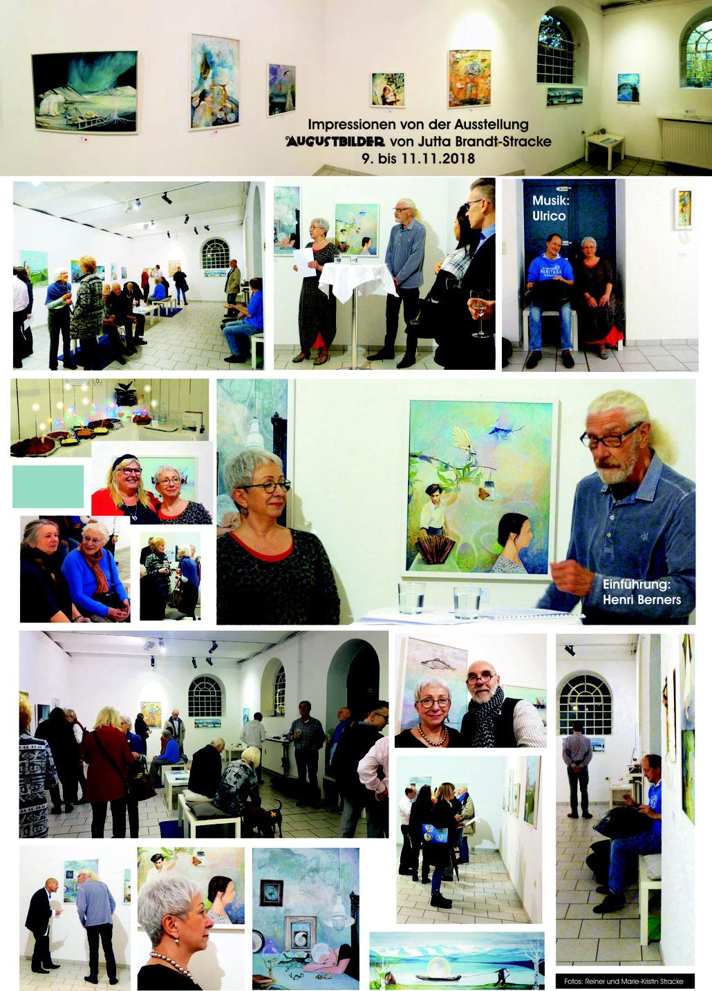 Impressionen von der Ausstellung Augustbilder von Jutta Brandt-Stracke im Galeriehaus H6 Hilden vom 09.-11.11.2018