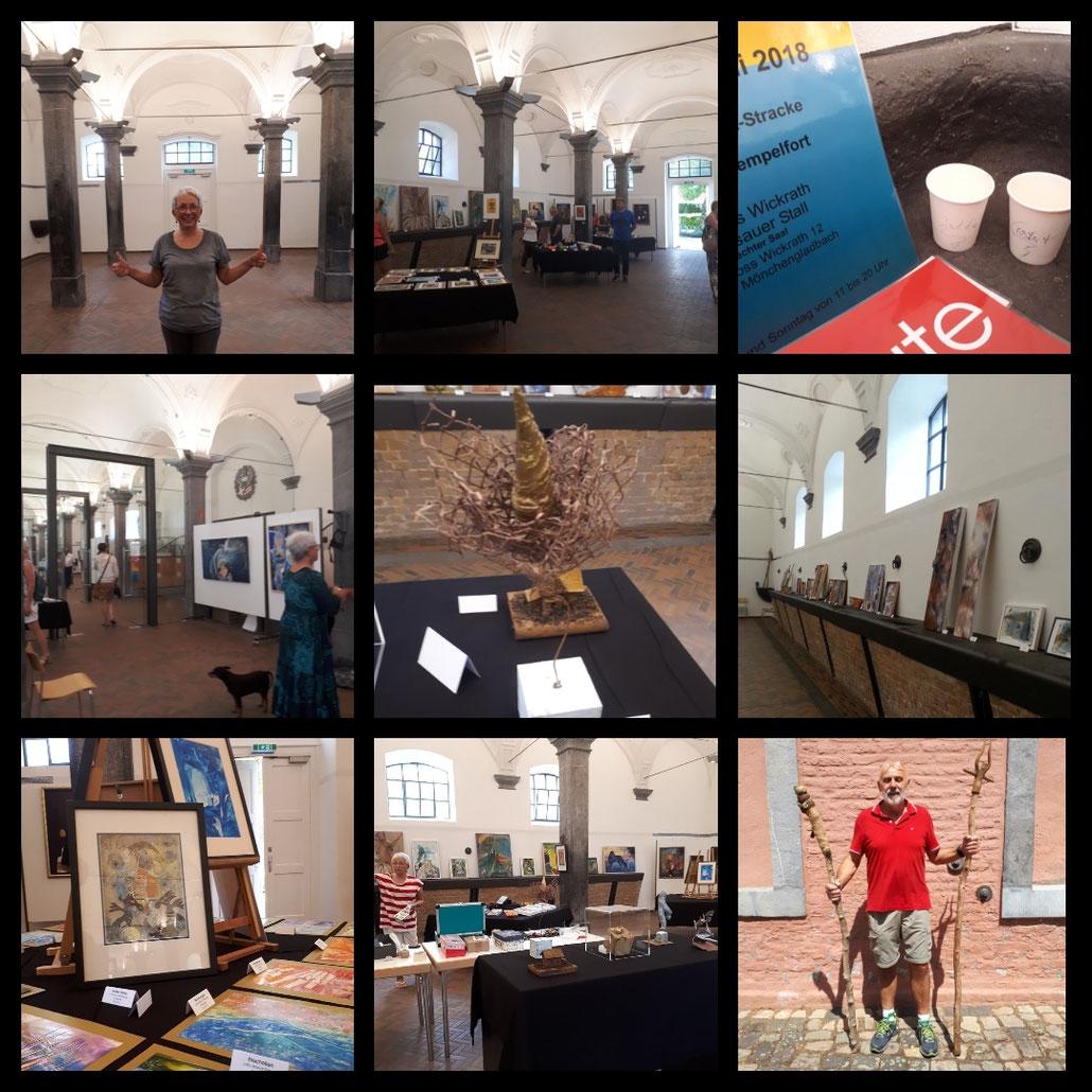 Impressionen von der Ausstellung Sommerleuchten auf Schloss Wickrath am 7./8.7.2018