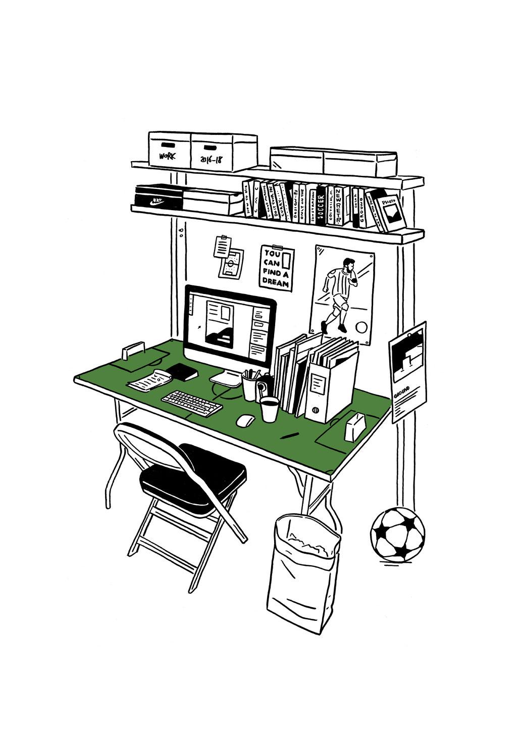love football 主催  チャリティーアート展  GROUND  イラスト
