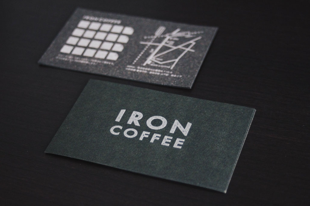 IRON COFFEE card design