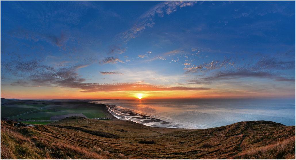 sun sunset mer blanc nez cap mer sea nature sky ciel