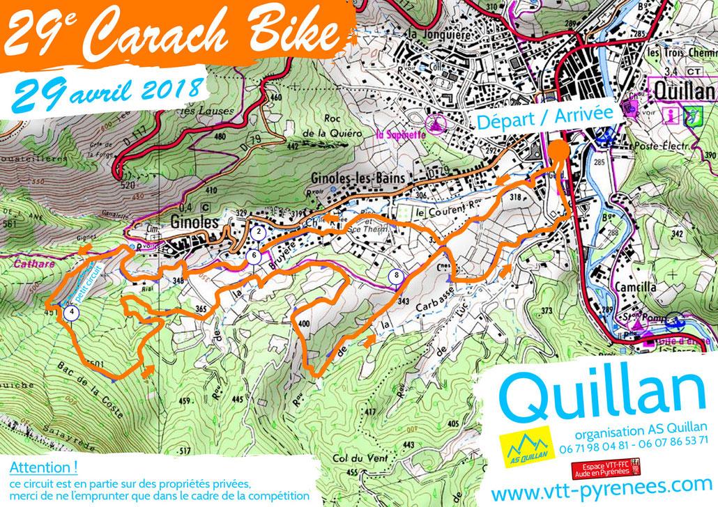 Carach Bike 2018 - plan du parcours