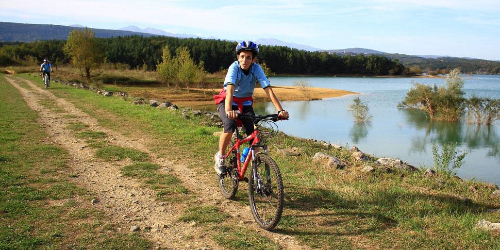 Espace VTT Aude en Pyrénées - Tour du Lac de Montbel - Circuit n°16