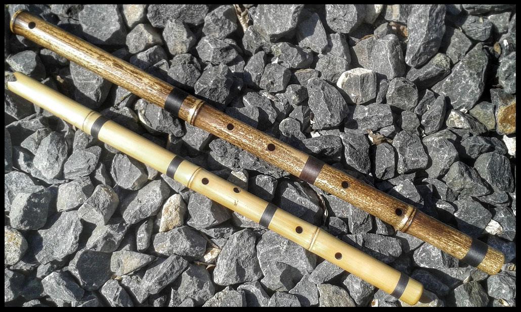 Flöte des Traumwebers (Quer- und Kerbflöte)