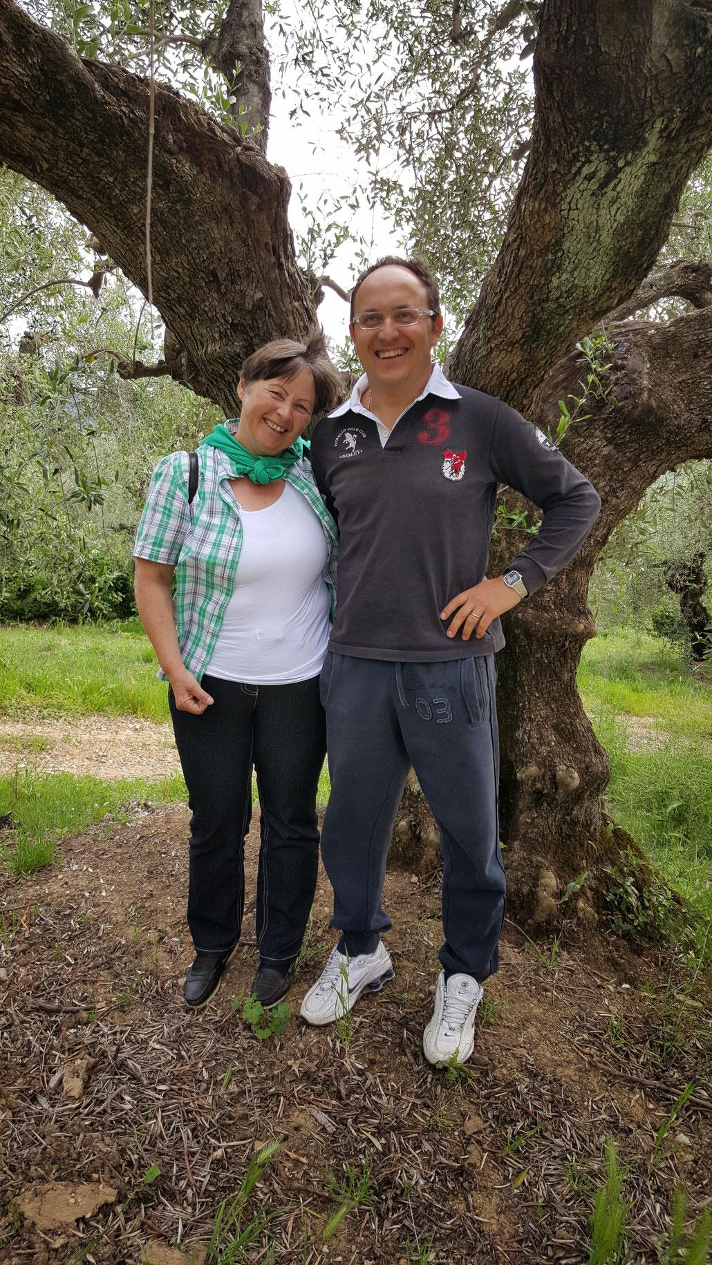 Meine Mutter, Margrit mit Simone Di Gaetano von Fonte di Foiano